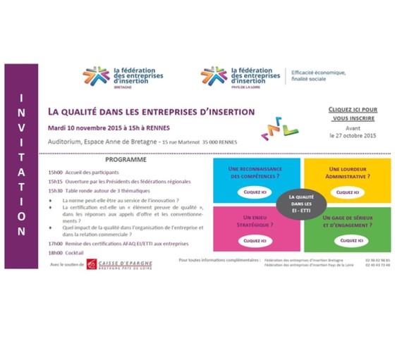 Invitation Qualité - Fédération Pays-de-la-Loire et Bretagne